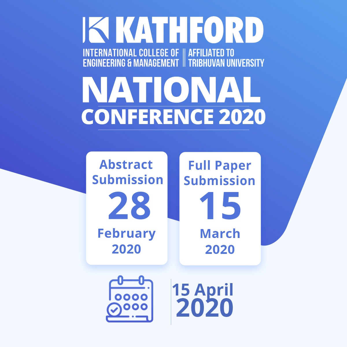 KATHFORD NATIONAL CONFERENCE 2020 ANNOUNCED